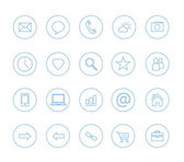 Clean icons transparent blue — Stock Vector