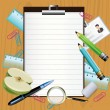 Cтоковый вектор: School subjects background