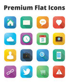 Premium flat icons set — Stock Vector