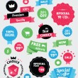 Set of vector stickers and ribbons — Vector de stock #27265233