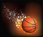 Basket Ball Flies — Stock Vector