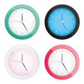 スタイリッシュなベクトルの時計を設定 — ストックベクタ