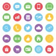 Colorful business and ecommerce icons set — Stock Vector
