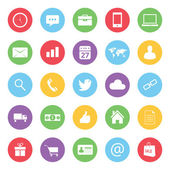 Färgglada affärs- och e-handel ikoner anger — Stockvektor