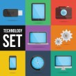 Stock vektor: Technology and devices icons set