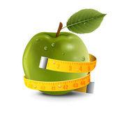 Apple Centimeter — Stock Vector