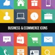 Stylish colorful business and ecommerce icons — Stock Vector