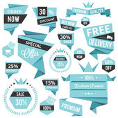 Stylish discount sale concept labels and stickers — Cтоковый вектор