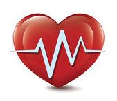 Heart Cardiogram — Cтоковый вектор