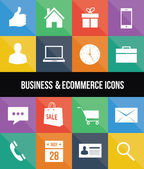 Eleganti icone colorate di business ed e-commerce — Vettoriale Stock
