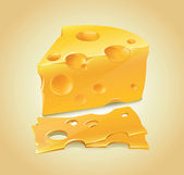 Cheese — Vector de stock