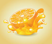 Orange Splash — Vector de stock