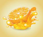 Orange Splash — Stock Vector