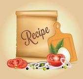 Recipes Banner — Stock Vector