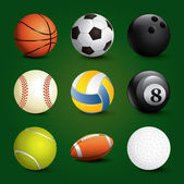 Sports Balls Set — Stock Vector