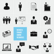 Stock vektor: Business Management and HumResources Vector Icons Set