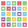 Stok Vektör: Set of Colorful Business Finance and Ecommerce Icons