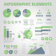 Set Elements of Infographics Green — Stock Vector