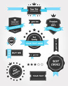 Premium Vector Set of Vintage Retro Labels — Vettoriale Stock