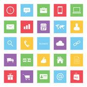 Uppsättning färgglada business finance och e-handel ikoner — Stockvektor