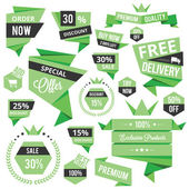 Set of Discount Sale Concept Labels and Stickers — Vector de stock
