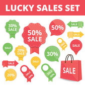 Set of Sale Labels and Badges — Vector de stock