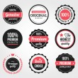 Cтоковый вектор: Set of Retro Vintage Badges and Labels