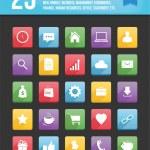 nowoczesny uniwersalny wektor ikon dla web i mobile zestaw 1 — Wektor stockowy