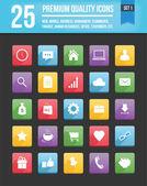 Moderna universal vector ikoner för webb och mobila set 1 — Stockvektor