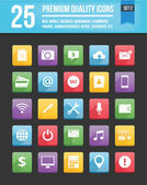 Modern Universal Vector Icons for Web and Mobile Set 2 — Cтоковый вектор