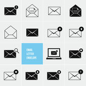 Envelope Business Shopping And Other Icons For e-mail — Stock vektor
