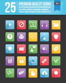 Modern Universal Vector Icons for Web and Mobile Set 3 — Stockvektor