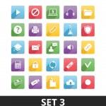 Uniwersalny wektorowe ikony zestaw 3 — Wektor stockowy
