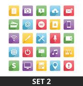 Uniwersalny wektorowe ikony zestaw 2 — Wektor stockowy