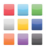 Blank Icons Templates for Web Mobile and Applications — Vettoriale Stock