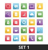 Uniwersalny wektorowe ikony zestaw 1 — Wektor stockowy