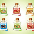 Bottles Of Potions — Stock Vector