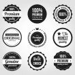 Wektor stockowy : Retro Vintage Badges and Labels