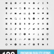 Vector de stock : 100 Web Icons