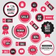 Vector Badges Labels and Stickers — Vettoriale Stock #29324839
