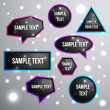 Vector Speech Bubbles Set — Stockvectorbeeld