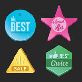 Modern Vector Badges Set — Stock Vector