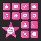 Trendy Vector Icons for Web and Mobile — Stock Vector