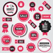 Vetor de emblemas, etiquetas e adesivos — Vetorial Stock