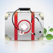 Stock Photo: Vector Medical White Leather Suitcase