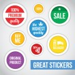 Modern Vector Stickers  — Stock Vector