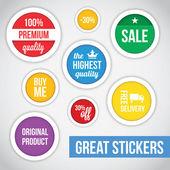 Modern Vector Stickers — Stock Vector