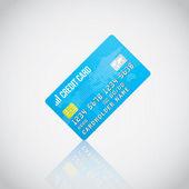 Синий вектор кредитная карта — Cтоковый вектор
