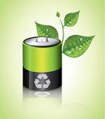 Bateria de ecologia — Vetorial Stock