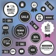 Trendy Vector Badges Labels and Stickers — Stock vektor